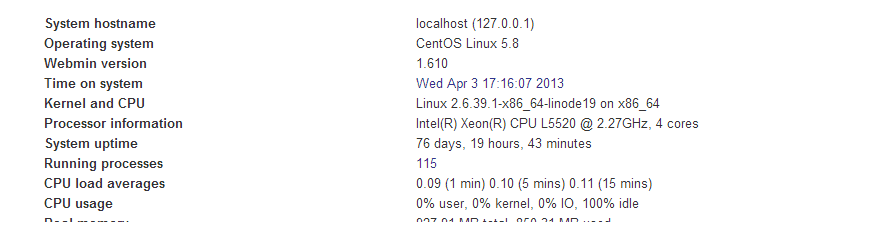 Linode CPU upgrades, before reboot